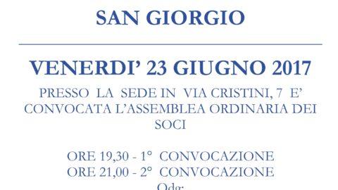 CONVOCAZIONE ASSEMBLEA SOCI 2017